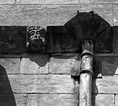 """""""Monstrous and loathsome heads"""" (DncnH) Tags: stwulfram grantham lincolnshire church corbel gargoyle medieval carving johnruskin"""