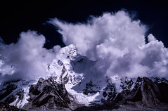 Nuptse Storm (robertdownie) Tags: sky clouds rock snow mountain nepal ice storm thunderstorm glacier himalaya everest monsoon nepalese himal thunderheads mahalangur khumbu nuptse kala pattar