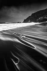 Icelandic Forces (Mathieu Rivrin - Photographies) Tags: iceland icelandic islande black white bw sea ocean vik nikon rivrin vacation nature natur wow nikkor 1424mm water beach art new landscape