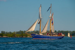 TS Playfair (A Great Capture) Tags: sails sail playfair boat sailboat toronto harbourfront brigantine tall ship redpath waterfront festival agreatcapture agc wwwagreatcapturecom adjm on ontario canada canadian photographer ash2276 ashleylduffus ald mobilejay jamesmitchell summer summertime 2016 water vessel sailing tree trees green blue white flag rwf2016 day boats shore