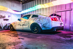 Colours (Rob Rabon Photography) Tags: ford mustang bagged airlift paxton supercharged splatter art artcar rtr upr tmi american muscle car wide slammed sony a7s rokinon 24mm yongnuo yn360 plastidip