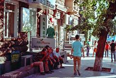 Men (lightmagic) Tags: 1125 kodakcolorplus200film zorki4k f56 street yerevan armenia houses shacks slums makeshift