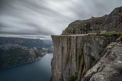 Preikestolen View (martin.matte) Tags: norway norwegen hiking wandern preikestolen lysefjord lysebotn lysefjorden longexposure sonya7ii grey turquoise water fjord