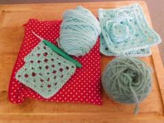 More kitchen crochet (andreabailey50) Tags: kitchen crochet granny squares