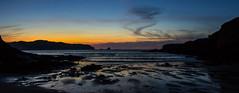 Ocaso en Santa Comba (Juan Pedro Barbadillo) Tags: panorámica panorama sunset ocaso océanoatlántico atlanticocean playa beach sea mar nightphotography nocturnalphotography cloudy nublado
