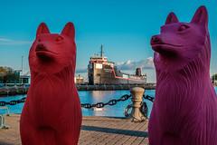 Cleveland Cliffs (C_Dubyaa) Tags: wolf cracking art invasion cleveland ohio cliffs ship harbor lake erie