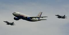 CAF 15001 (CF-188 escort) (Steelhead 2010) Tags: 15001 rcaf canadianforces royalcanadianairforce canforce1 yxu airbus a310 a310300 cc150 polaris