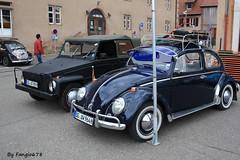 Volkswagen Coccinelle Berline et 181 (fangio678) Tags: molsheim cox show 15 05 2016 kfer collection cars classic coche coccinelle vochos voiture voituresanciennes ancienne oldtimer youngtimer allemande volkswagen berline 181