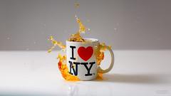#13 - I Love...tea. (Leon Barrott Photography) Tags: project50 50mm canon5dmkiii tea nyc newyork iloveny strobist highsync splash liquid cup drink drop freeze twittographers