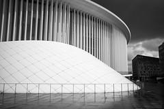 Emanation (Tom Levold (www.levold.de/photosphere)) Tags: luxemburg luxembourg fuji fujixpro2 xpro2 bw sw architektur architecture building philharmonie philharmonia