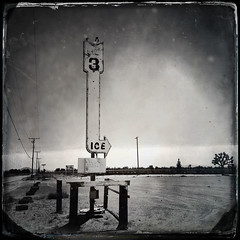melted (Maureen Bond) Tags: desert tires sign classic vintage wires poles iphone ca maureenbond