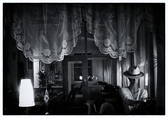 lonely date (RadarO´Reilly) Tags: bw window monochrome germany island deutschland blackwhite fenster norderney insel sw date friesland einsam niedersachsen schwarzweis
