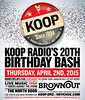KOOP-B-day bash poster 3.12.15