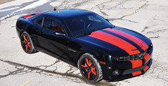 """2010 Camaro with Inferno Orange Stripes • <a style=""""font-size:0.8em;"""" href=""""http://www.flickr.com/photos/85572005@N00/16906349412/"""" target=""""_blank"""">View on Flickr</a>"""