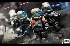 Under Fire (Grant Me Your Bacon!) Tags: boss star republic lego delta battle sev wars squad clone spec ops commando scorch fixer