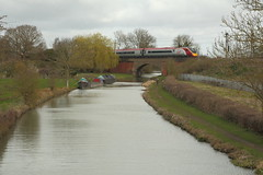 Sun, what sun? (DH73.) Tags: west coast canal main union northamptonshire grand trains line virgin 390 pendolino blisworth