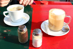 Galao&Co (Reflex !) Tags: kaffee schanze kontraste rotgrn