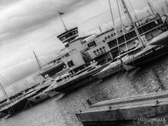 YCML | Yacht Club Marina of #Loano (B/W) (Ragnarkkr) Tags: italy seascape marina harbor liguria waterscape savona loano tonemapping hdrphotography rivieradellepalme ycml luminancehdr marinadiloano