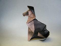 German Shepherd - Romn Daz (Rui.Roda) Tags: dog chien co origami shepherd perro german cachorro pastor papiroflexia alemo romn daz papierfalten
