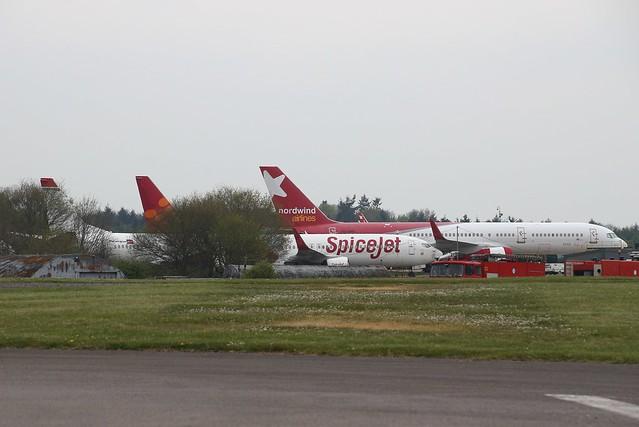 EX NORWEGIAN 737-300 LN-KHC,EX SPICEJET 737-800 VT-SGX/M-ABGX,EX NORDWIND 757 VQ-BHR