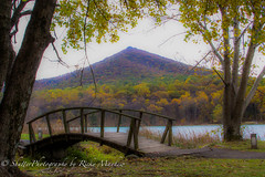 Bridge to the Peaks (Shutter Photography & Hot Rod Images) Tags: mountains bridges peaksofotter leaves lake fall bedfordva canon50d twop yourbestoftoday