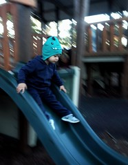 Slide addict! (Gideon McLaren) Tags: movingsubject actionshot playground iphone iphonecreativity playtime energy toddler slide