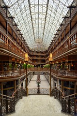 Cleveland Arcade (mswan777) Tags: skylight city mall arcade cleveland ohio symmetry iron lights levels nikon d5100 nikkor 1855mm indoor hotel shopping history