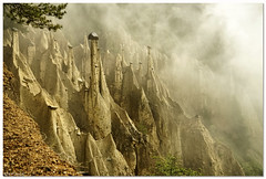 The earth pyramids of Platten (aviana2) Tags: earthpyramids landmark italy southtyrol fog