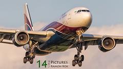 Arik Air A330 (Ramon Kok) Tags: sunset airplane airport heathrow aircraft aviation air airline airbus airlines a330 lhr airfield egll avgeek arikair avporn