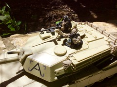 M1 Abrams tank (Brick Operator) Tags: megablocks tank m1 abrams toy outside