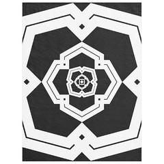"""poly bloom""  black & white custom fleece blanket large (CMY-KEY) Tags: home graphicdesign pattern decor bedding patterndesign cameronprather"