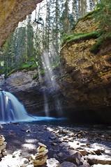 Mist and Falls (Andrew Pizzinato) Tags: johnstoncanyon hiking alberta canada banffnationalpark