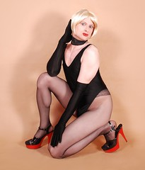 18jL (klarissakrass) Tags: tights heels penthouse crossdress crossplay leoterd