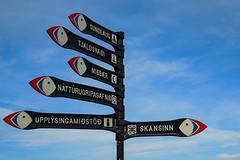 Islndisch fr Fortgeschrittene (kathrin275) Tags: island iceland wegweiser directionsign westmnnerinseln vestmannaeyjar