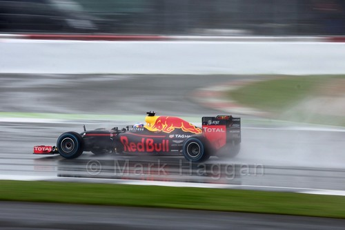 Daniel Ricciardo in his Red Bull during the 2016 British Grand Prix