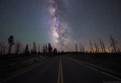 Highway To Heaven (Erik Johnson Photography) Tags: road trees sky night way dead highway long exposure desert parks canyon line national astrophotography bryce milky leading