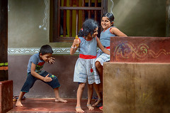 Play Time (Sathish_Photography) Tags: india playing colors kids happy colours joy streetphotography playtime karnataka candidshot colourfull nikon35mm nikonlens primelens gokarn nikon5100 nikondslrcamera sathishphotography sathishkumarphotography gokarnastreets