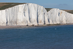 Haven Brow and Short Brow, late afternoon   Seven Sisters walk   July 2016-54 (Paul Dykes) Tags: southdowns southdownsway southcoast coast cliffs sea shore coastal englishchannel sussex england uk seaside sun sunnyday chalk downs hills countryside