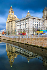 BRYAN_20160310_IMG_1911 (stephenbryan825) Tags: liverpool pierhead portofliverpoolbuilding royalliverbuilding buildings canal dome reflection selects threegraces