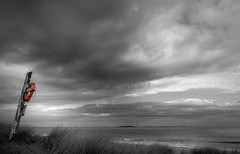 Sea Houses Northumberland- (Allan A Albery) Tags: lightroom newcastle northumberland sonya7ii sonyzeiss2470mmfe blackwhite seacape seaside storm skyline