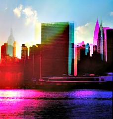"""""""the pictures take themselves, I just get to play with them."""" SK~ (Manhattan Girl) Tags: shellykayphotography nycskyline popart manhattan doubleexposure"""