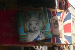 Her Majesty (mistigree) Tags: londres portobello portobellomarket nottinghill lapin chien portrait unionjack
