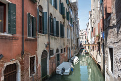 """""""Backstreet"""" Canal in Venice (Sorin Popovich) Tags: travel venice italy brick water architecture boats canal nikon italia f14 transportation 24mm nikkor venezia redbrick veneto watertransportation 24mmf14 d810 nikkor24mmf14"""