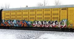 klozer - (timetomakethepasta) Tags: train graffiti ns rip norfolk southern freight cbs lmk autorack klozer