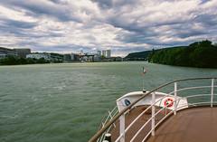 90 (Lorenz.E) Tags: basel rhine rhein barge nikonf3 velvia50 binnenschiff christophmerian binnenschifffahrt inlandnavigation rheinschifffahrt