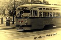 2015_03_07 San Francisco streetscenes, Calif.bwe (Walt Barnes) Tags: sanfrancisco street city urban blackandwhite bw canon eos blackwhite streetscene monotone calif muni streetcar vignette topaz 60d canoneos60d topazadjust eos60d topazblackwhiteeffects wdbones99