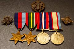 Dad's memorabilia (cupra1) Tags: dads liberator raaf memorabilia medals pacificstar b24m consolidatedb24mliberator paybook leavepass dadsmemorabilia
