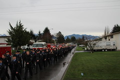 Funeral Procession for Fallen Firefighter Brian Smyth (bcfiretrucks) Tags: news beach loss fire photography death for march media bc dress flag brian duty police columbia canadian aerial parade line funeral valley fallen motorcycle service british rcmp procession volunteer firefighter department died chilliwack smyth lodd of lindel