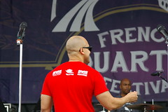 Irvin Mayfield with the New Orleans Jazz Orchestra at French Quarter Fest 2015 Day 3, April 11