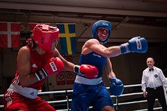 Nordic championship tournament -15, Bout 35 W60kg 6 (jvienonen) Tags: finland championship women tournament finals nordic boxing pm 2015 w60kg